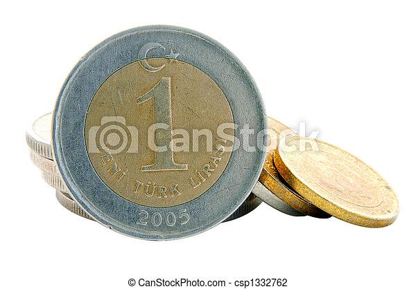 Turkish Lira - 1YTL Coin - csp1332762