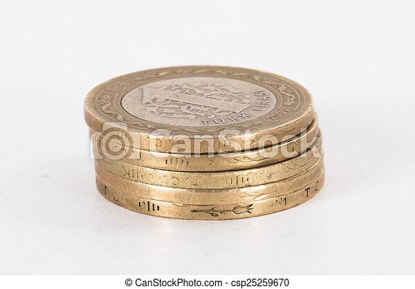 Turkish Lira Coins - csp25259670