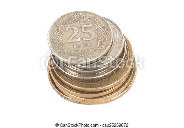 Turkish Lira Coins - csp25259672