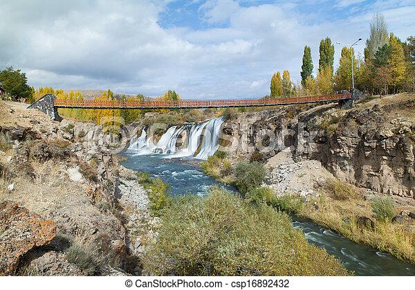 Turkish Muradiye waterfalls - csp16892432