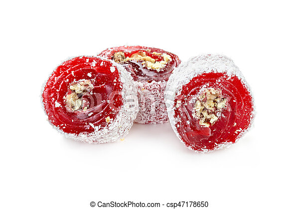Turkish sweets on a white background - csp47178650