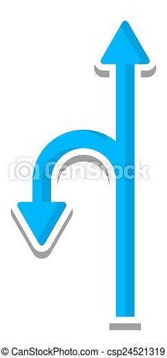 Turn Arrow Direction Sign