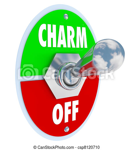 Turn on the Charm Toggle Switch Be Charismatic - csp8120710
