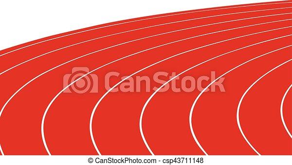 turn red running track stadium rh canstockphoto com girl running track clipart running track clipart free