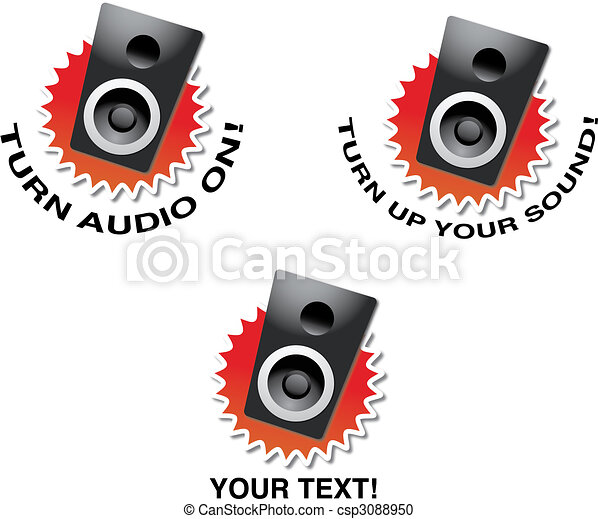 Turn up your sound! - csp3088950
