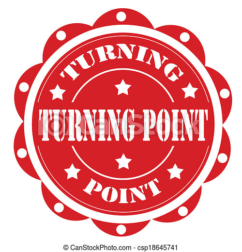 Turning Point-label - csp18645741