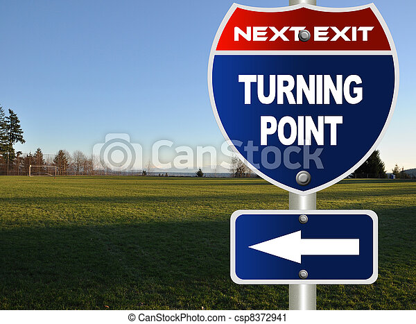 Turning point road sign - csp8372941