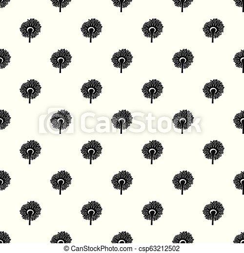 Turning sunflower pattern seamless vector - csp63212502