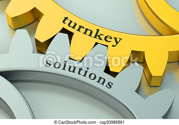 Turnkey Solution concept on the gearwheels - csp30986861