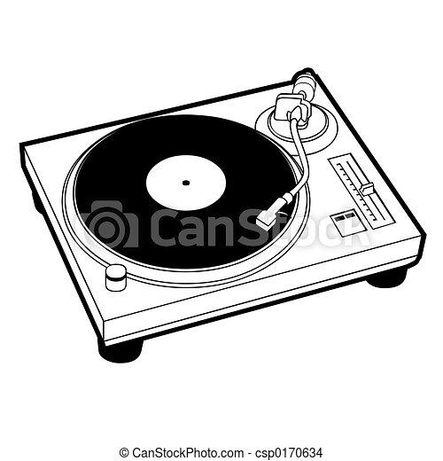 turntable dj turntable rh canstockphoto com DJ Logos Clip Art DJ Clip Art