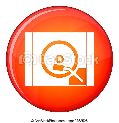 Turntable icon, flat style - csp43752528