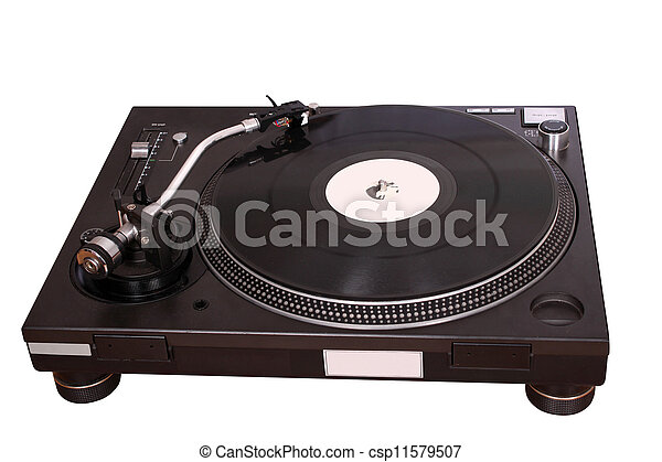 turntable isolated on white - csp11579507