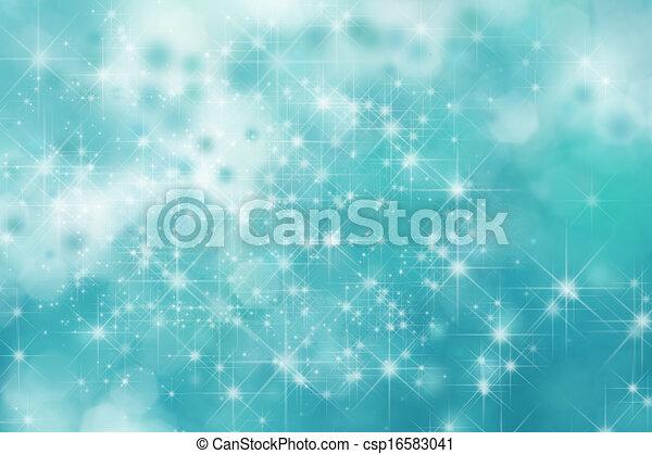 turquesa, estrela, fundo - csp16583041