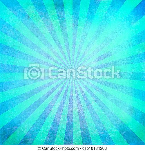 turquesa, sunburst, fundo, em branco - csp18134208