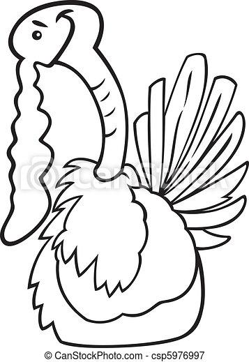 turquie, livre coloration, dessin animé - csp5976997