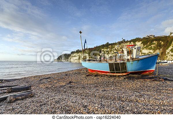 Turquoise Fishing Boat  - csp16224040