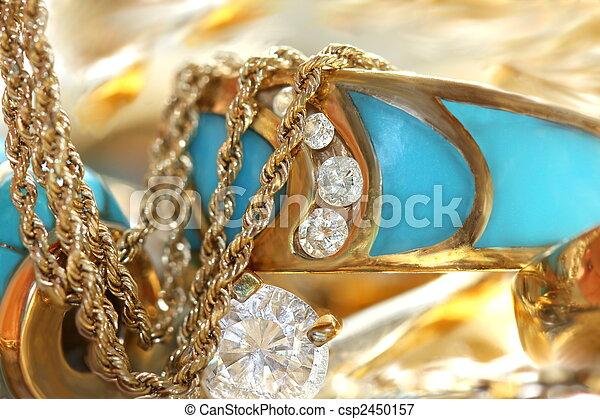 Turquoise  jewelry - csp2450157