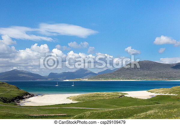Turquoise waters on Isle of Harris - csp29109479