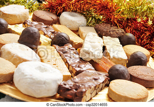 turron mantecados and polvorones spanish christmas confections csp32014655