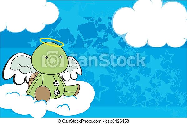 turtle angel cartoon copyspace 3 - csp6426458