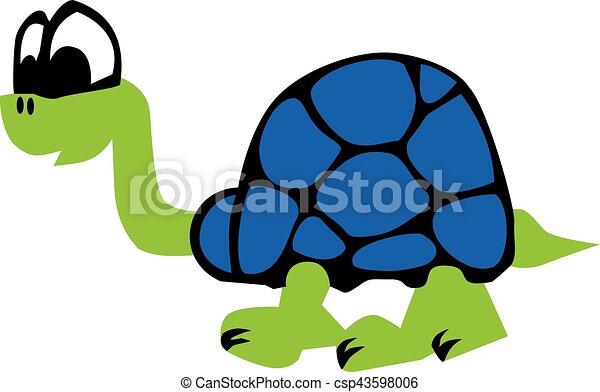 Turtle cartoon - csp43598006