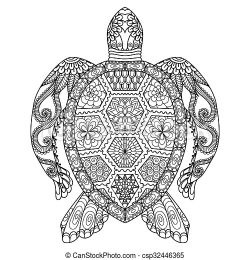- Turtle Coloring Page. Turtle Line Art Design For Coloring Book For Adult,  Tattoo, T Shirt Design And So On. CanStock