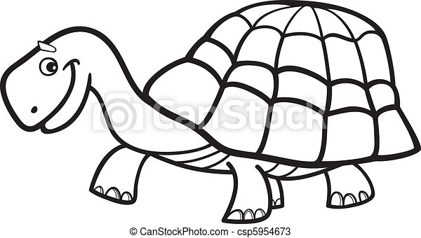 Illustration of cartoon turtle for coloring book vectors - Search ...