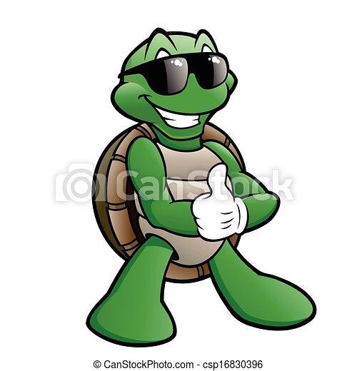 turtle, lächeln - csp16830396