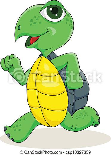 Turtle running - csp10327359