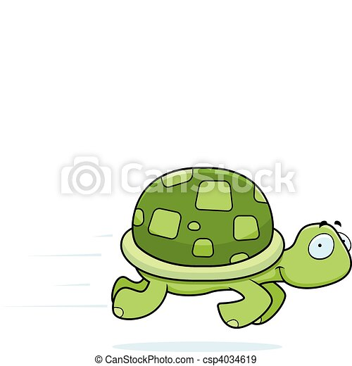 Turtle Running - csp4034619