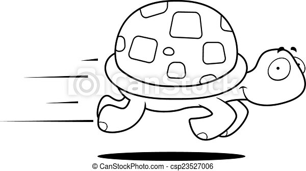 Turtle Running - csp23527006