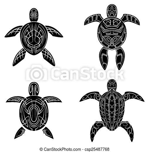 Turtle Tattoo - csp25487768