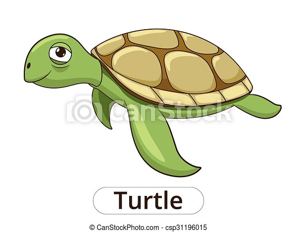 Turtle underwater animal cartoon illustration - csp31196015