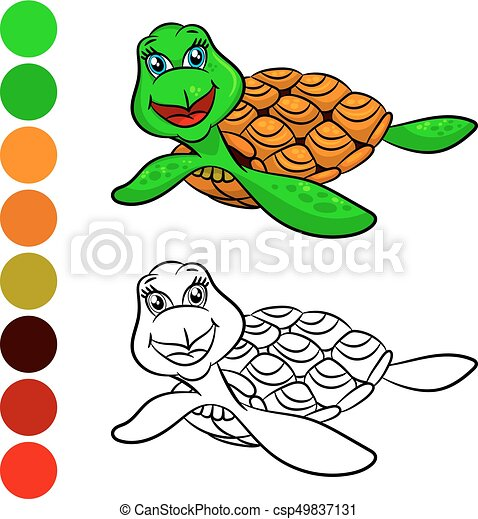 Turtles coloring book.