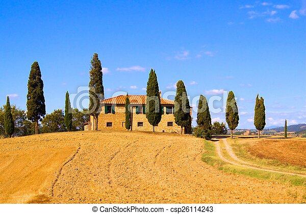 tuscan, landscape, italië, classieke - csp26114243