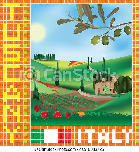 Tuscan mosaic 1 - csp10083726