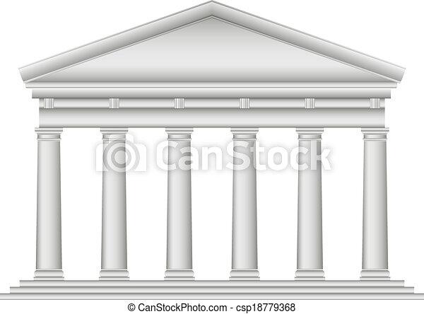 Tuscan Roman temple - csp18779368
