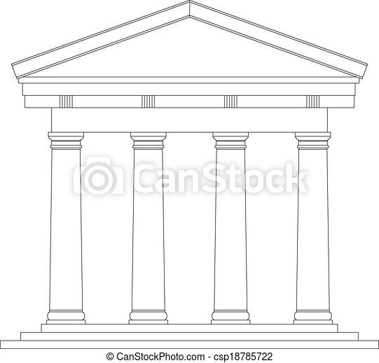Tuscan Roman temple - csp18785722