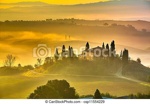 Tuscany at early morning - csp11554229