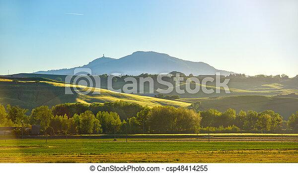 Tuscany, evening sun - csp48414255