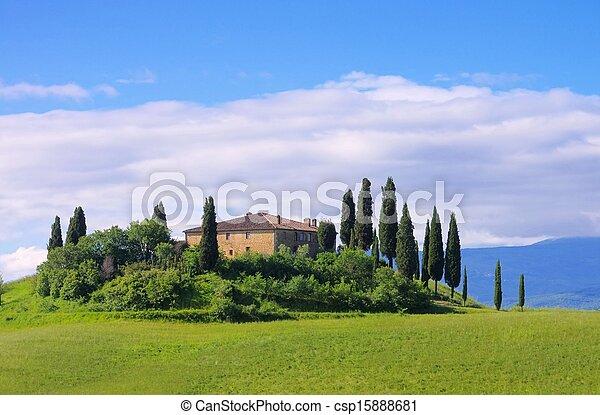 Tuscany house - csp15888681