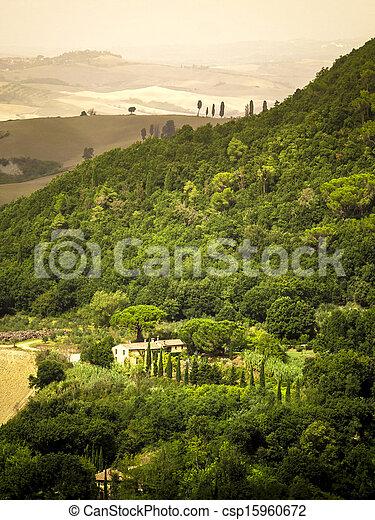 Tuscany Landscape - csp15960672