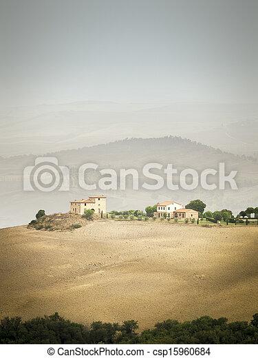 Tuscany Landscape - csp15960684