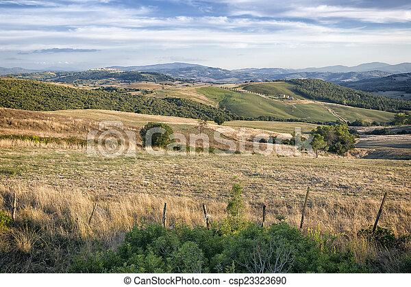 Tuscany Landscape - csp23323690