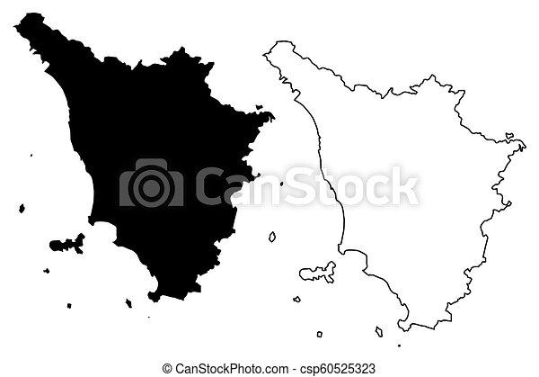 Tuscany Map Of Italy.Tuscany Map