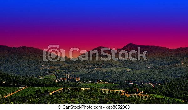 Tuscany Sunset - csp8052068