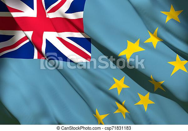 Tuvalu flag waving - csp71831183
