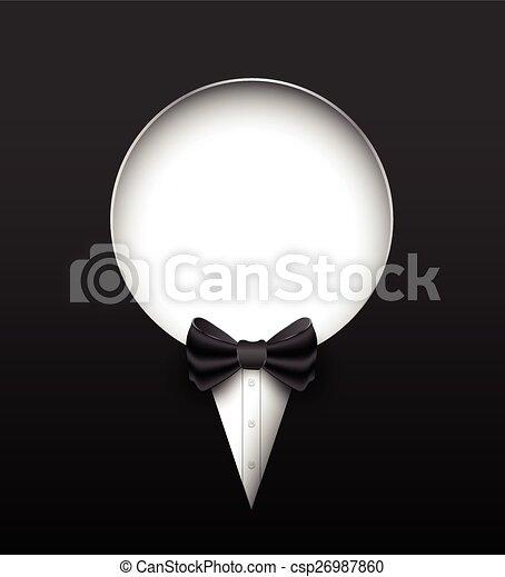 Tuxedo vector banner.  - csp26987860
