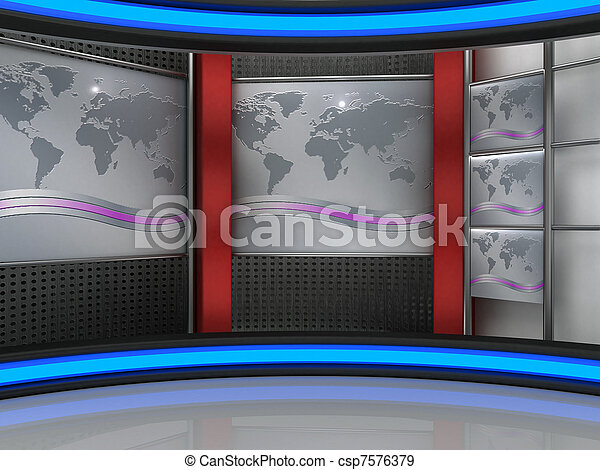 tvスタジオ - csp7576379