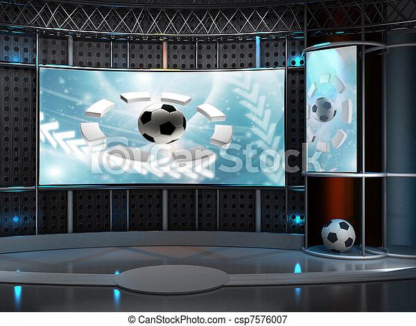 tvスタジオ - csp7576007